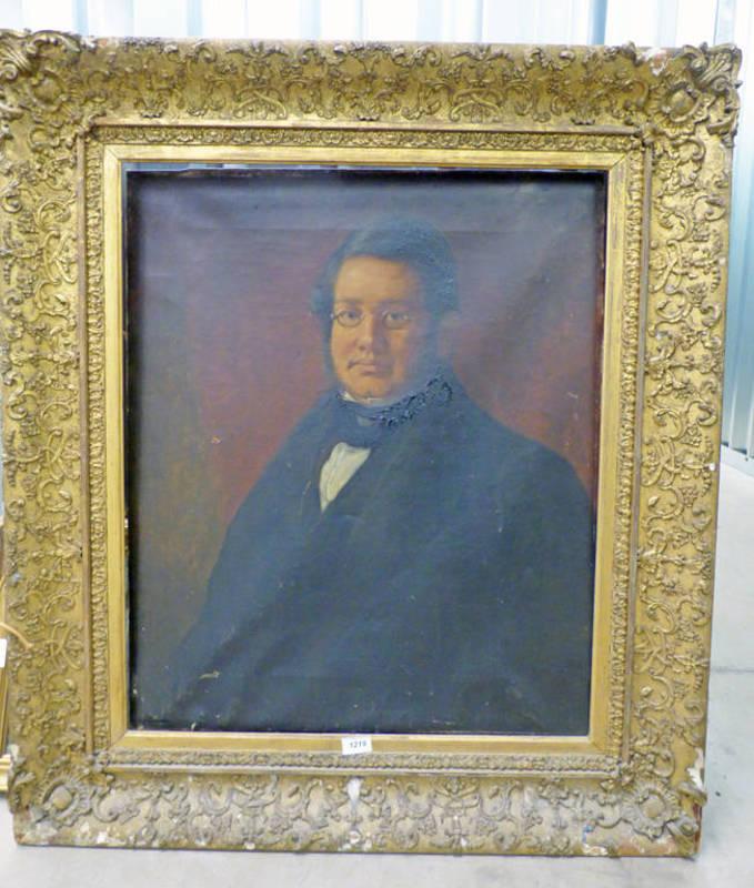 Lot 1219 - GILT FRAMED 19TH CENTURY PORTRAIT OF GENTLEMAN,