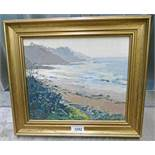 MARGARET LAW CULZEAN FROM CROY SHORE SIGNED GILT FRAMED OIL PAINTING 24 X 29 CM Condition