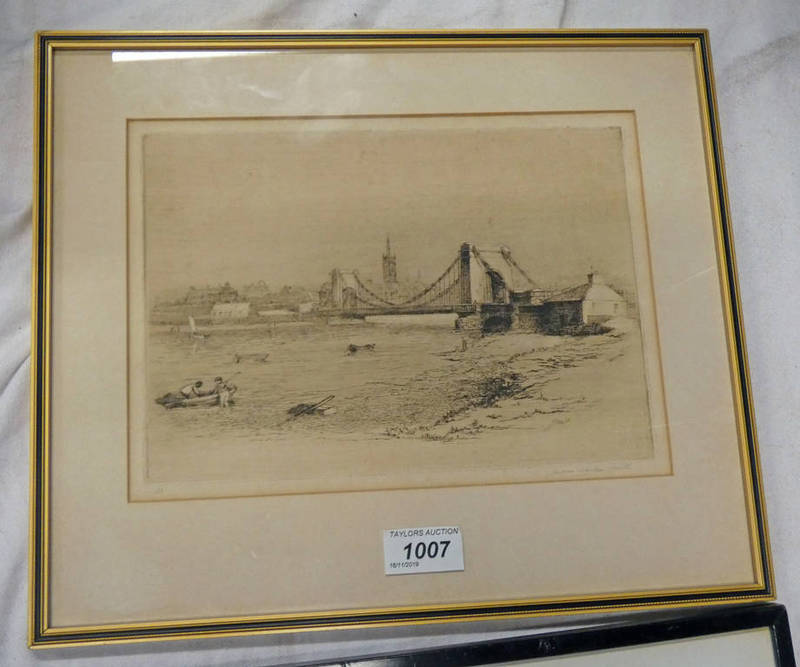 JAMES MACKIE SMITH, MONTROSE BRIDGE, SIGNED IN PENCIL,