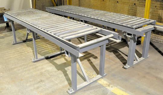 "Lot-(2) 30"" X 120"" Roller Conveyors"