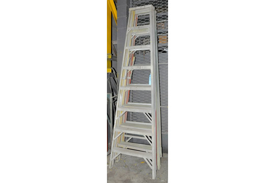 Lot-(2) 8' Fiberglass Step Ladders