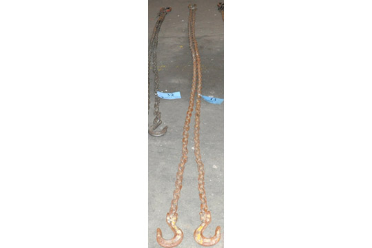 """Lot 33 - 3/8"""" Link X 144"""" 12,300-Lbs. Capacity 2-Hook Chain Sling, Cert Tag"""