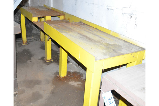 "Lot-(1) 24"" X 120"" and (1) 28"" X 80"" Steel Work Tables - Image 2 of 2"