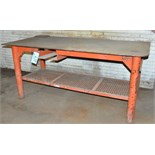 """36"""" X 76"""" X 1/2"""" Thick Steel Work Table"""