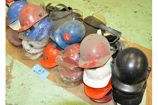 Lot-Hard Hats and Safety Shields