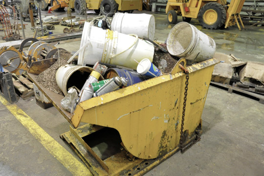 Stationary Dump Hopper with Trash Contents - Image 2 of 2