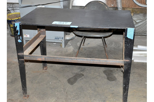 Lot-(1) Section of Shelving, Table and (2) Stands with Wire, Motors, - Image 3 of 7