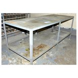 """Lot-32"""" X 84"""" Steel Work Table with Desk"""