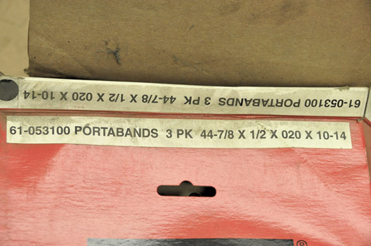 "Lot-SIMONDS 44-78"" X 1/2"" X 020 X 10-14 Porta-Band Saw Blades - Image 2 of 2"