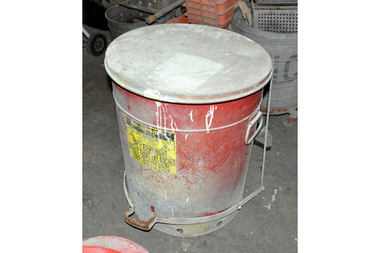 Lot-(3) Mop Buckets, (2) Fans, Rag Can, Portable Grill, Heater and - Image 4 of 6