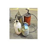 Lot-(2) Grease Dispensers with (2) Pump Sprayers