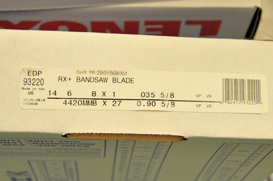 """Lot-(11) Boxes of LENOX 14'6"""" X 1"""", .035, 5/8 Tooth, RX Plus Bandsaw Blades - Image 2 of 2"""
