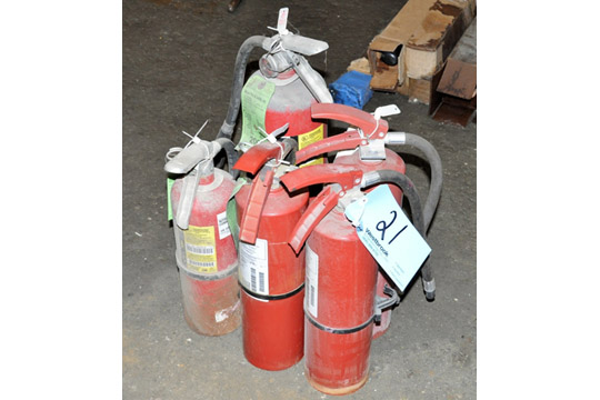 Lot 21 - Lot-(5) Fire Extinguishers