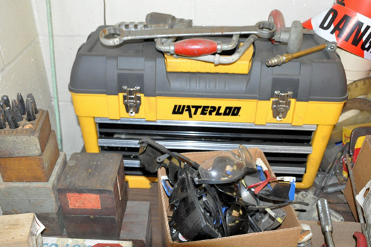 Lot 53 - Lot-Assorted Hand Tools on (1) Desk Top Consisting of: Tool Box,