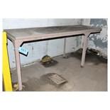 """Lot-(1) 24"""" X 120"""" and (1) 28"""" X 80"""" Steel Work Tables"""