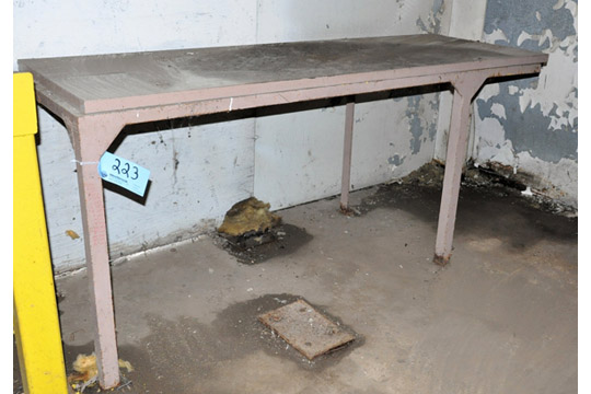 "Lot-(1) 24"" X 120"" and (1) 28"" X 80"" Steel Work Tables"