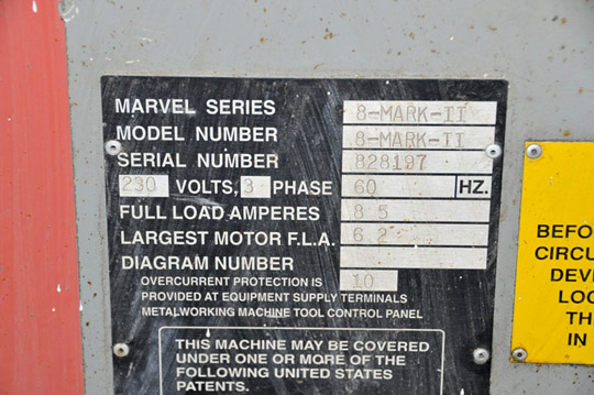 """MARVEL / ARMSTRONG-BLUM SERIES 8 MARK II 18"""" X 22"""" Vertical Tilting Metal Cutting Band Saw - Image 5 of 5"""
