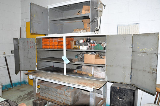"""36"""" X 56"""" Steel Work Table and Cabinet with LOVEJOY Jaw Type"""