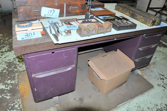 Lot-Desk, Shelving Unit, Steel Stand and 2-Door Cabinet with - Image 5 of 5