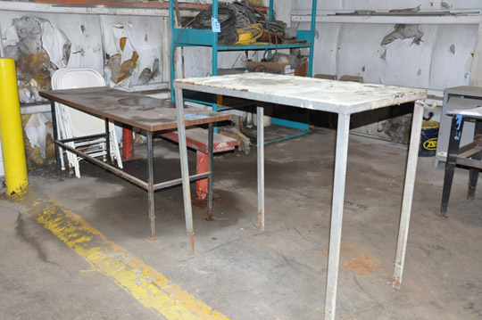 Lot-(1) Section of Shelving, Table and (2) Stands with Wire, Motors, - Image 2 of 7