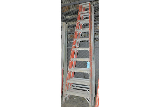 Lot 2 - Lot-(2) 10' Fiberglass Step Ladders