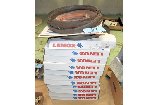 """Lot-(11) Boxes of LENOX 14'6"""" X 1"""", .035, 5/8 Tooth, RX Plus Bandsaw Blades"""