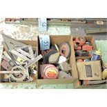 Lot-Tape Measures, Chalk Lines and Squares in (3) Boxes