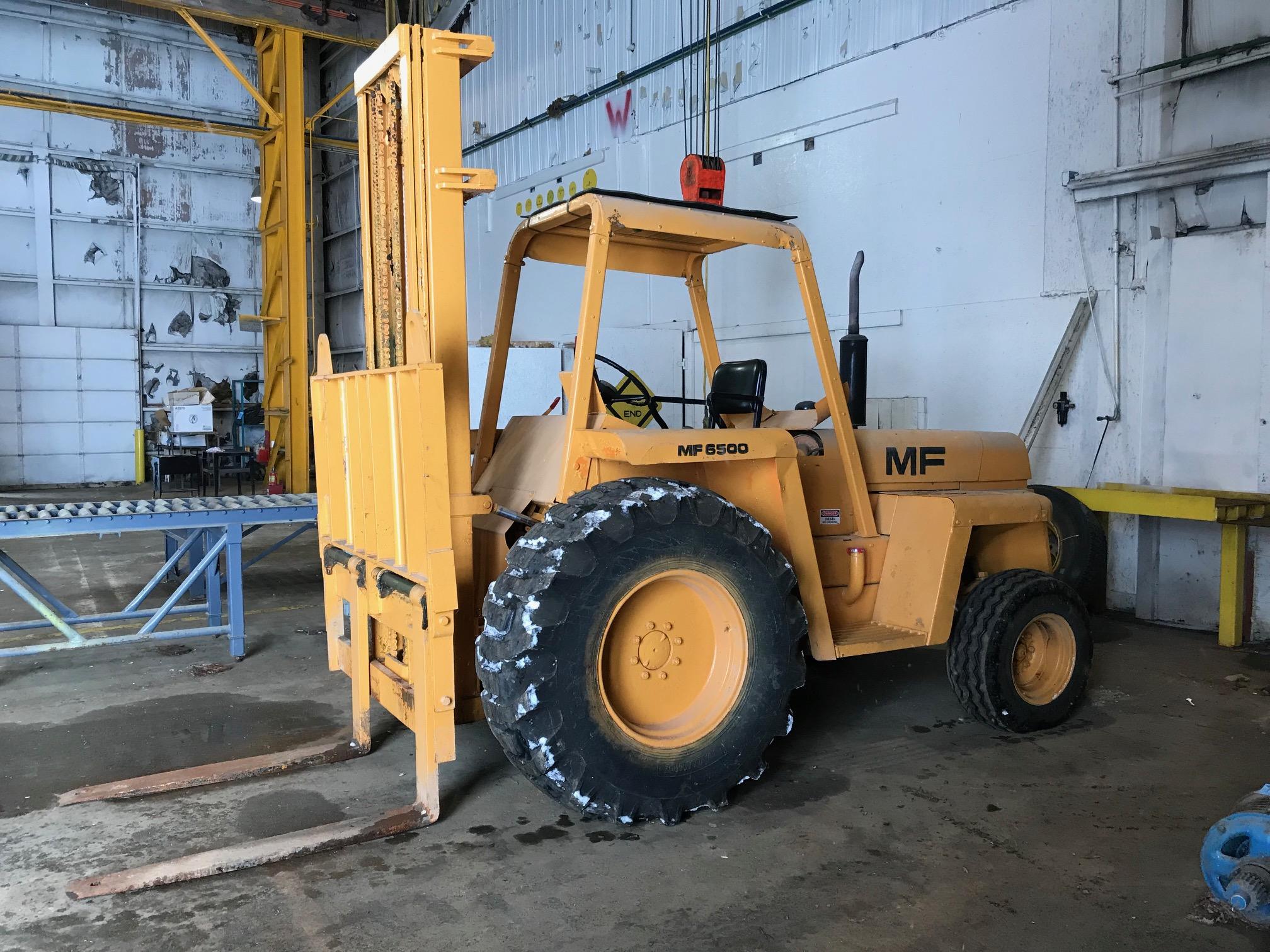 MASSEY FERGUSON MODEL MF6500 6,500-Lbs. Capacity Diesel Powered Rough Terrain Fork Lift Truck