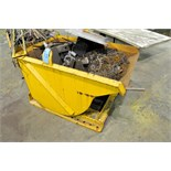 Stationary Dump Hopper with Scrap Metal Contents