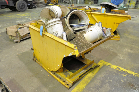 Stationary Dump Hopper with Trash Contents