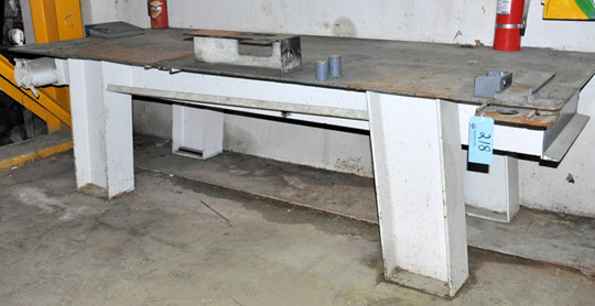 "48"" X 120"" X 1/2"" Thick Steel Work Table"