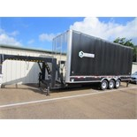 2012 STREAMLINE TRI AXLE GOOSENECK ROLL TARP TRAILER, 24FT OPEN FLAT DECK, 3 - 7000LBS AXLES, RATED