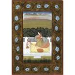 A MINIATURE DEPICTING A MUGHAL LADY, INDIA, 19TH CENTURY