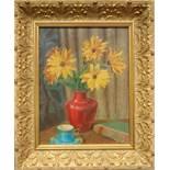 """E. Lange, """"Stillleben mit Blumenstrauß"""", um 1930, Öl/Leinwand, unten rechts signiert, HB 43*33cm,"""