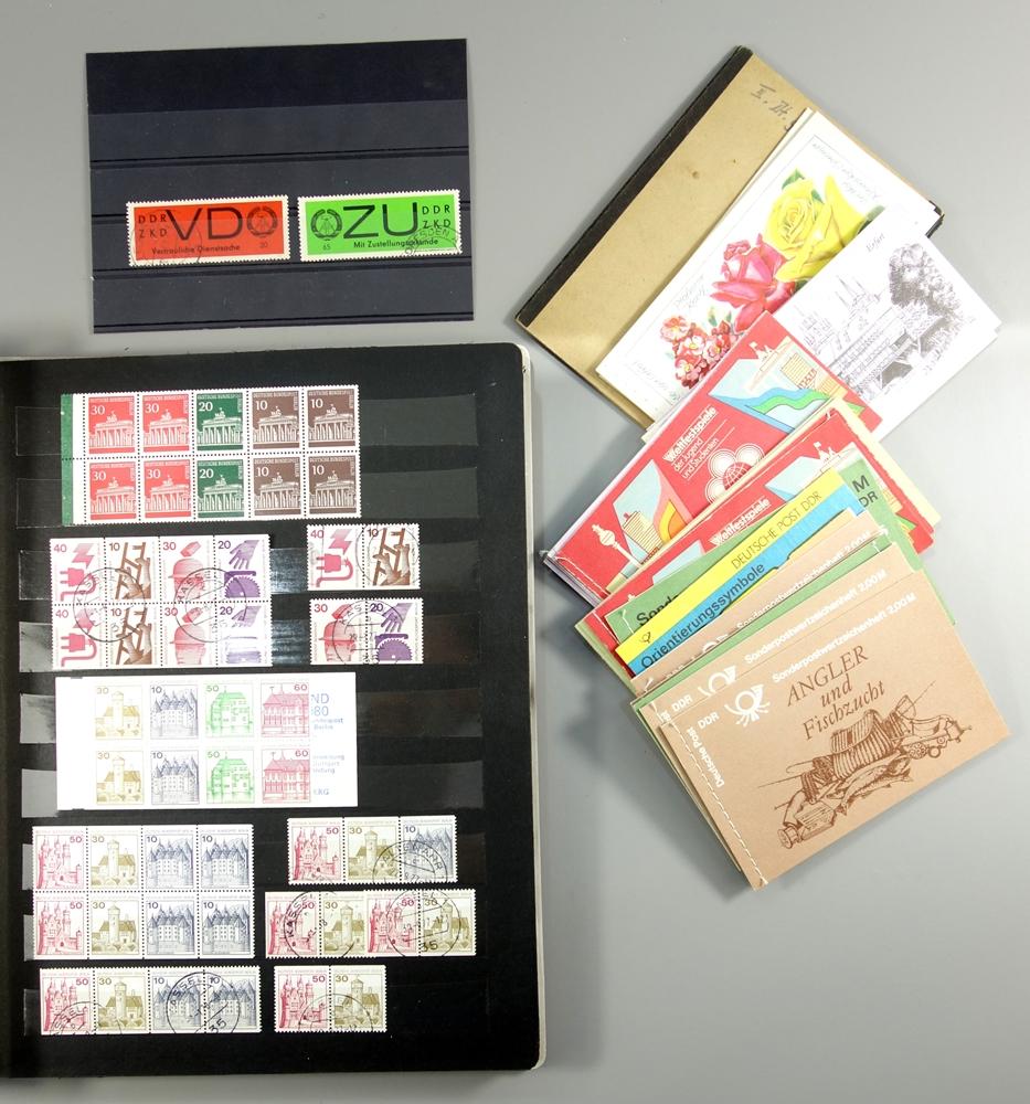 Briefmarken und Ganzsachen, DDR und BRD, ZKD Marken, DPD, Luftpost, SbPA Aufkleber, - Bild 3 aus 3