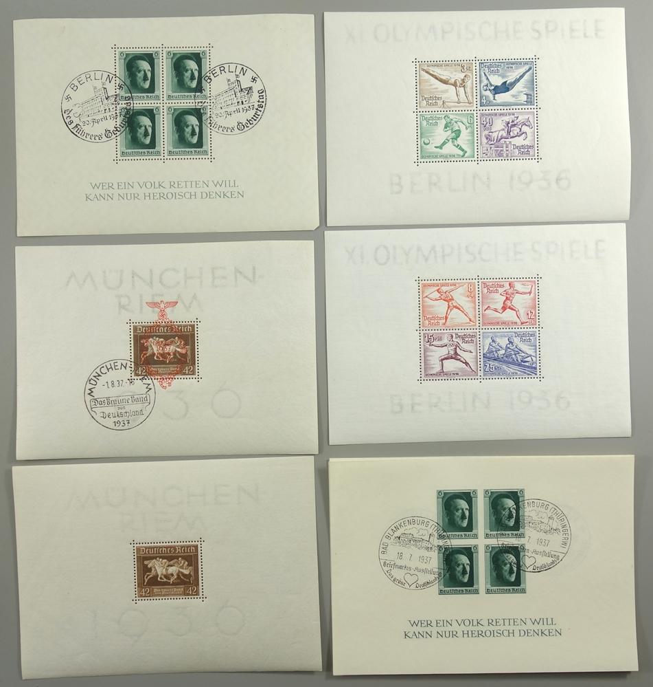 Briefmarken, III. Reich, 1933-1945, gut bestückt, jedoch fehlerhaft. gestempelt, postfrisch, mit - Bild 4 aus 4