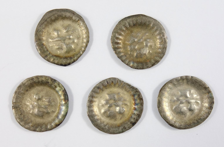 5 Hohlpfennige, Salzwedel, 1440-1470, Brandenburg, Markgrafschaft Friedrich II, ss-vz5 Hohlpfennige,