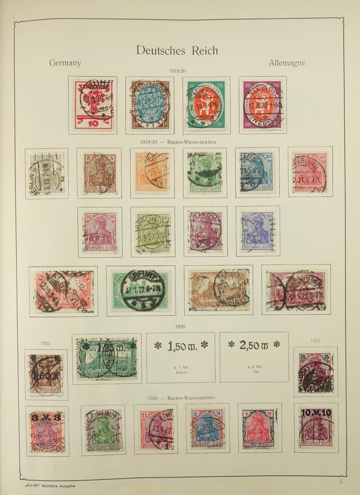 2 KB-BE Briefmarkenalben Nr. 1321/1323, Deutsches Reich und Inflation; Deutsches Reich 1880-1948,
