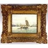 "Alfred Märtens (1888-1936), ""Segelboot vor Amsterdam"", Öl/Leinwand, unten rechts signiert,"