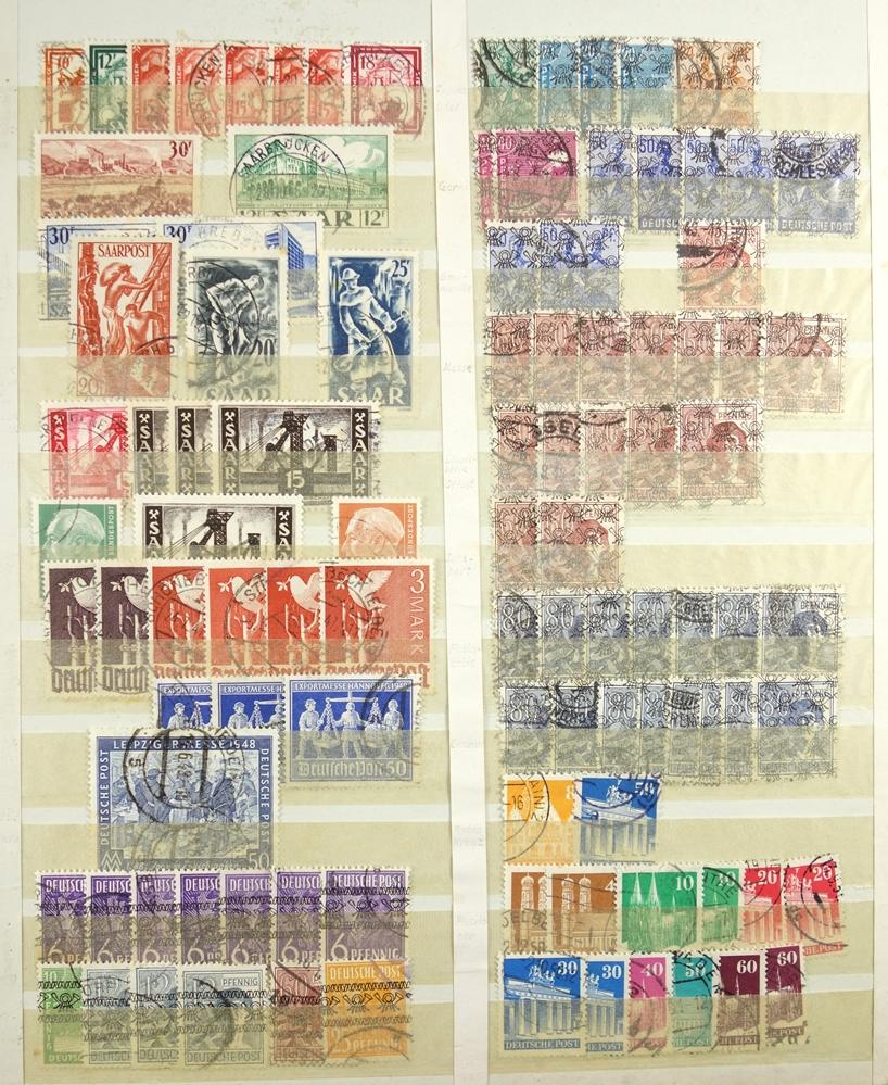 Briefmarken Besatzungzonen, Anfänge der DDR, viele Werte doppelt, gestempeltStamps occupation zones,