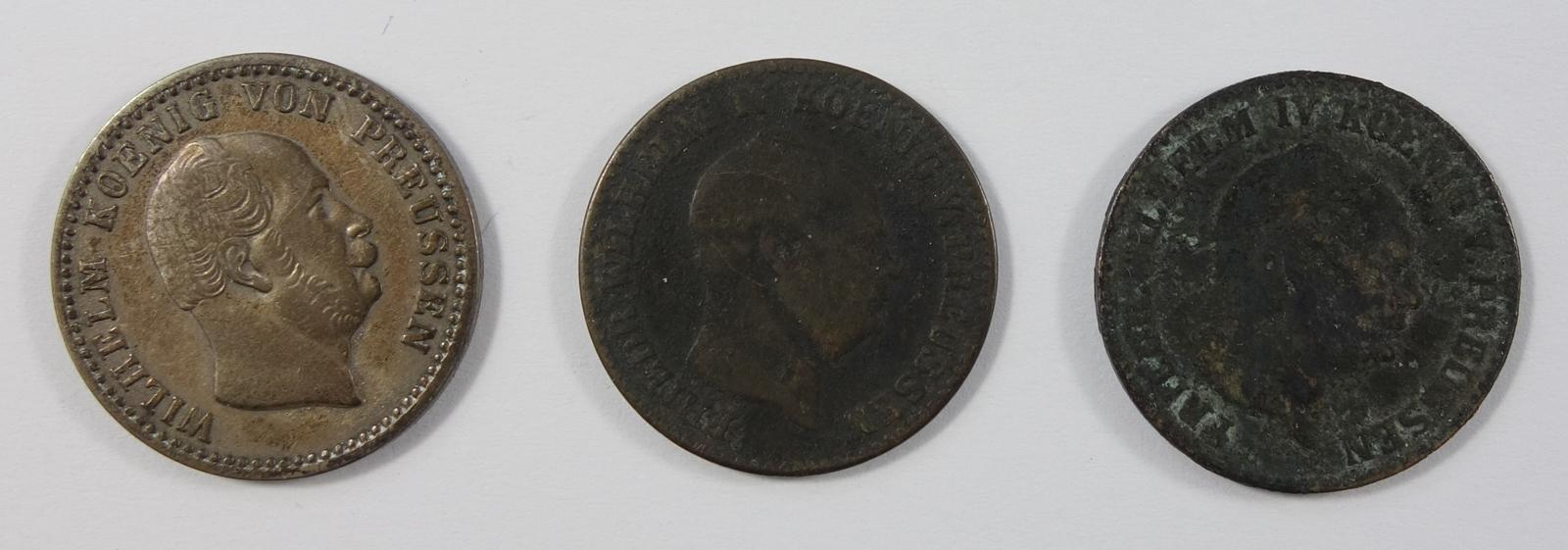 3* 2 1/2 Silbergroschen, Preussen: Wilhelm IV, 1855 A; Wilhelm I, 1863 A; Friedrich Wilhelm IV, 1854