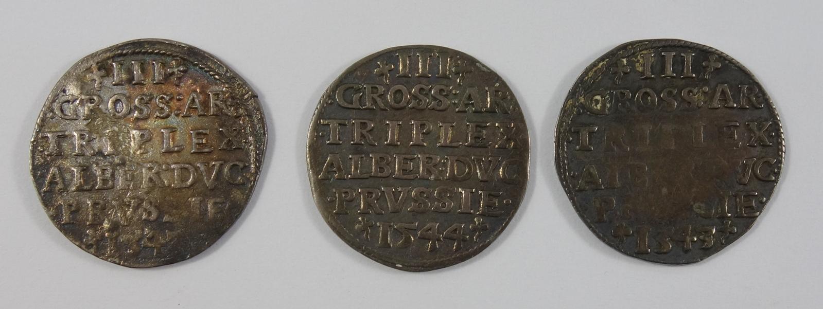 3* 3 Groschen 1543/44, Preußen, Herzogtum (Ostpreußen) Albrecht von Brandenburg 1525-1568, - Bild 2 aus 2
