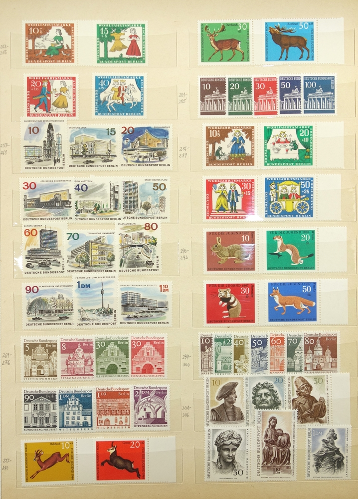 Briefmarken West Berlin 1949 -1989, gut bestückt, jedoch fehlerhaft, besonders die ersten Jahre - Bild 2 aus 2