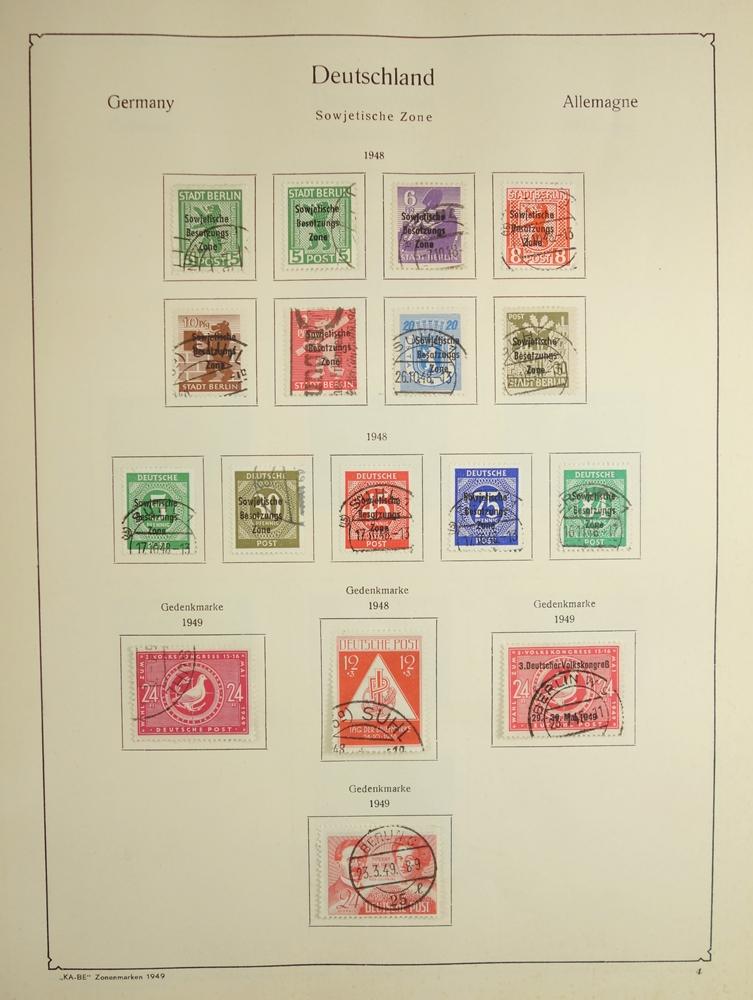 """KA-BE Briefmarkenalbum """"Die deutschen Zonenmarken Nr. 321/323"""", ab 1948-1960, gut bestückt, nicht - Bild 2 aus 3"""