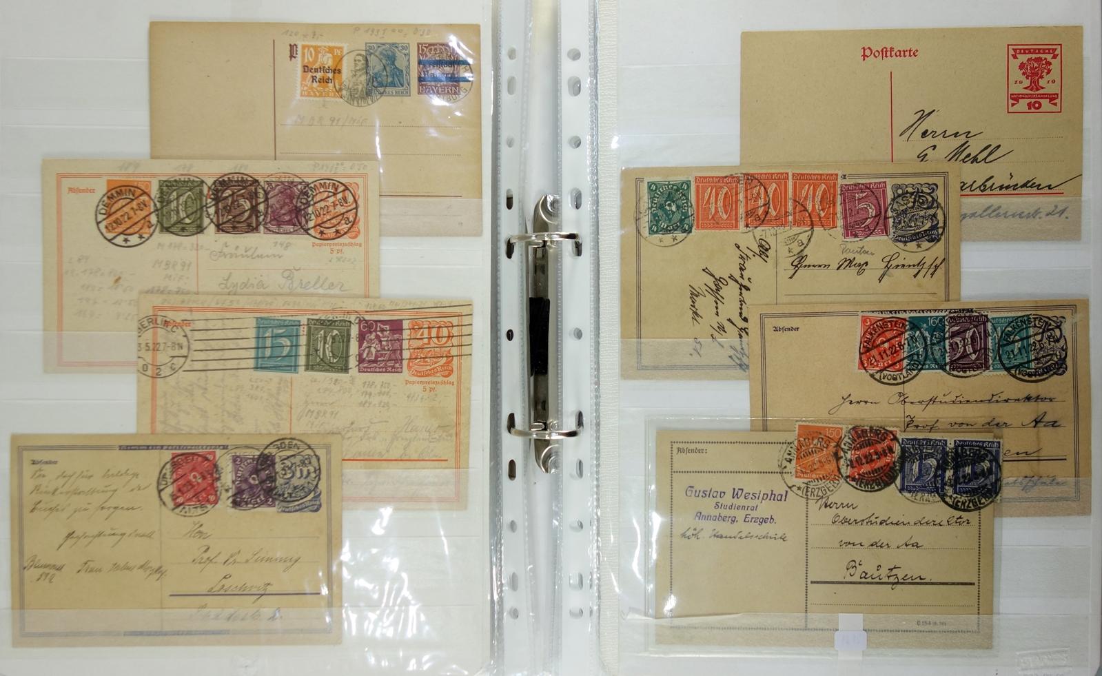 90 Ganzsachen, Deutschland, um 1880 bis ca.1989; u.a. 5* Königreich Bayern, 1* Königreich - Bild 2 aus 3