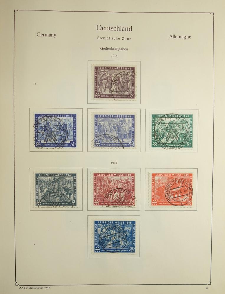 """KA-BE Briefmarkenalbum """"Die deutschen Zonenmarken Nr. 321/323"""", ab 1948-1960, gut bestückt, nicht - Bild 3 aus 3"""