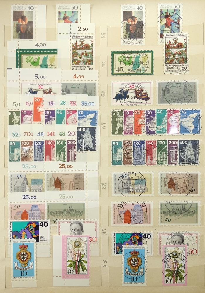 Briefmarken BRD 1949-1989, in 3 Alben, gut bestückt, jedoch fehlerhaft, besonders die ersten Jahre - Bild 4 aus 4