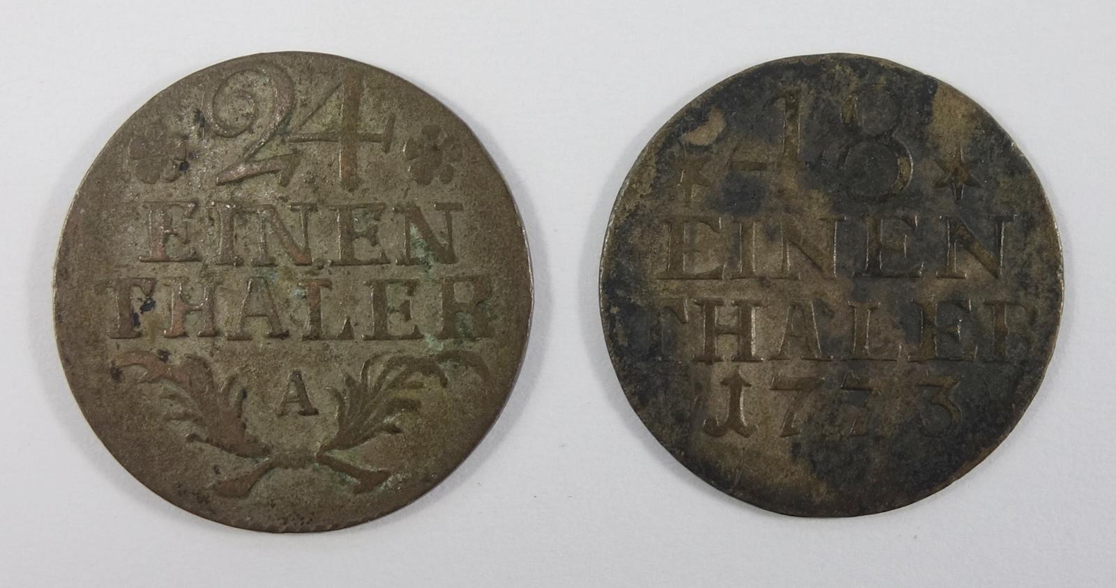 1/24 Taler 1782 A und 1/48 Taler 1773, Brandenburg-Preußen, Friedrich II., s-ss1/24 Thaler 1782 A - Bild 2 aus 2