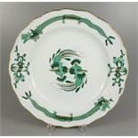 """Jubiläumsteller """"1710-1910"""", Reicher Hofdrache, grün, goldgeschuppt, D.25cm, Meissen, 1.Wahl, Form"""