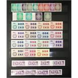 Briefmarken und Ganzsachen, DDR und BRD, ZKD Marken, DPD, Luftpost, SbPA Aufkleber,